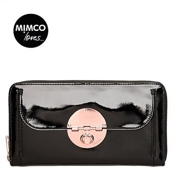 Классический mimčo розовое золото блокировки путешествия бумажник черный компетентная ...