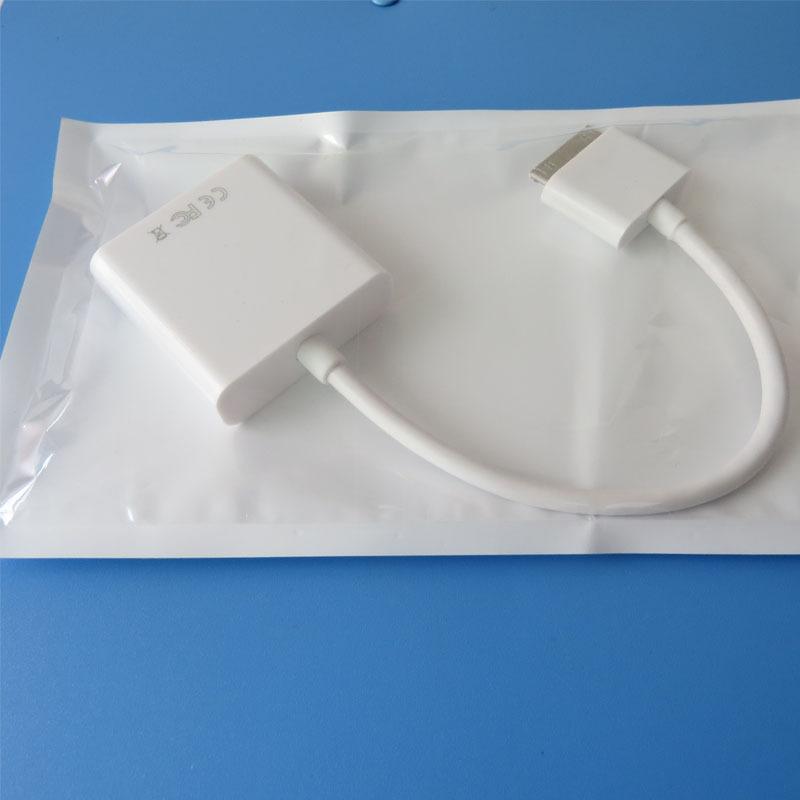 free shipping 30PIN TO VGA cable for ipod iphone ipad(China (Mainland))