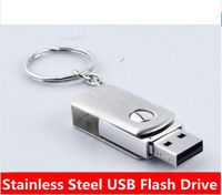 U disk  32B 64GB 128GB stainless steel usb flash drive  128GB metal USB 2.0 Flash Memory Stick Drive U Disk