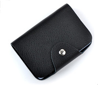 New 2014 The Genuine Leather Business Credit Card Holder Card Package Drop Shipping