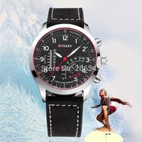 Curren Brand Business Men Quartz Wristwatch Casual Leather Strap Watch Fashion Sport Watch Military Watches MN4942