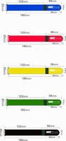 Fedex Free shipping 20X180mm colorful Velcro straps with metal buckle with custom white logo