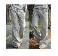 2015 Direct Selling Summer Fashion New Pants Linen Men Breathable Loose Cotton Trousers / Men's Casual and Comfortable Pants