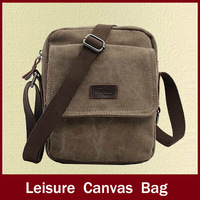 Hot Sale fashion high quality canvas man's bags, brand design leisure canvas bag for men,vintage leather business messenger bag