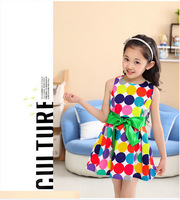 2014 New arrival ball gowns for girls cotton dress princess dress children
