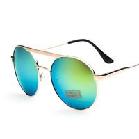 7 Colors 2014 Sale Brand Designer Blue Mirrored Sunglass Men Silver Mirror Vintage glasses Women SunGlasses Hot