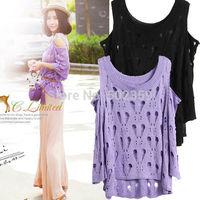 NZ-0307 2014 summer sun sweet strapless sweater fringed sweater sleeve blouse empty sun shirt large size thin women