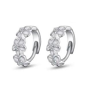 S925 серьга стерлингового серебра, 3 цветы дизайн с корея, последняя модель мода серьги ювелирные изделия стерлингового серебра бесплатная доставка