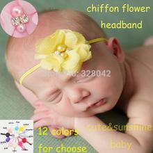 cheap flower elastic headband