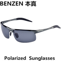 2014 new men sunglasses clycling polarized sun glasses  alloy driver driving  glasses with case black 2004A