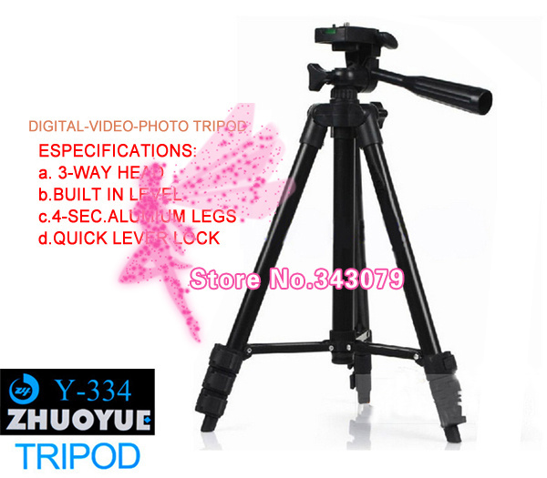 Y-334 Professional tripod Lightweight Digital Camera Tripod for Nikon Canon Fuji Sony Kodak Olympus NEW(China (Mainland))