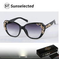 Free dropshipping 2014 High Street Fashion Flower Baroque Sunglasses Perfect for Women Wrap this Season UV Protected sg212