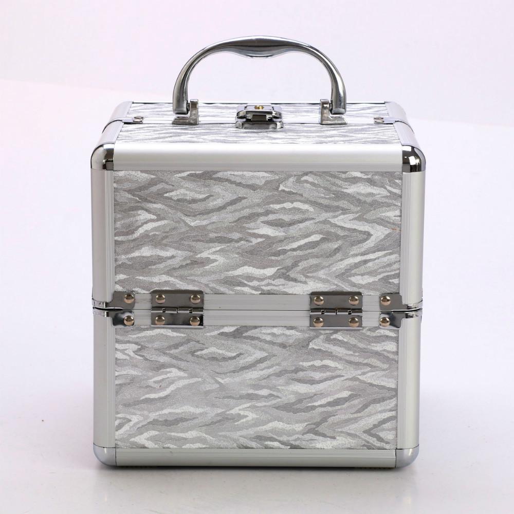 professional big cosmetic box aluminum cosmetics case beauty cometic bag with belt(China (Mainland))