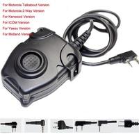 For Motorola Talkabout /2-way /Kenwood /ICOM /Yaesu/Midland Airosft Hunting PTT  Z-tactical Z112 W/ Military  Standard Version