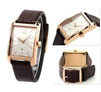 Sales! Fashion Business Top Brand atmos clock kors Men leather strap Wristwatch waterproof Military Quartz, Women Dress Watches