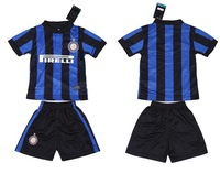 Hot ,2013-14 Inter Milan jersey + shorts children suit, best children's soccer uniforms, embroidery logo, free shipping