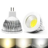 Wholesale - Super bright COB GU10 Led 5W 7W 9W bulbs light 60 angle dimmable E27 E26 E14 MR16 led spotlights warm/pure/cool whit