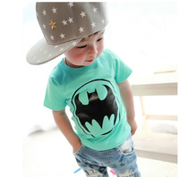 2014Boy Girl Fashion T-Shirt Kids Summer Clothing Wear Children Batman Short-Sleeved T-Shirt Fit 1-5Yrs 5 PCS/LOT Free Shipping