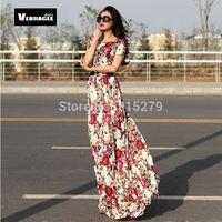 2014 new women long lace maxi dress summer vintage fashion sexy casual plus size floor length floral patterns print dresses xxl