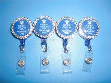 Free Shipping  Retractable id holder Keep Calm And Nightingale On Retractable Reel ID Badge Holder Lanyard Hook Nurse  10pcs/lot(China (Mainland))
