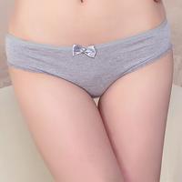 comfortable cotton panties women underwear plain color cotton panties hotsale   12pcs/lot