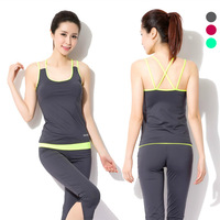 Bra + Shorts Running Gym Workout Clothes Fitness Clothing For Women Training Suit Sports Suits Sportswear Yoga Set Roupas De