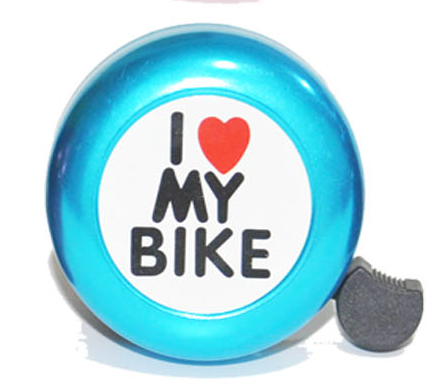 bicycle horn and light bell ring bike for children I love my bike pattern bicycle accessories hot selling bicycle bell style(China (Mainland))