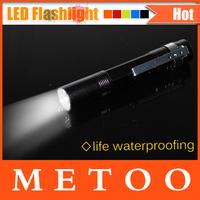 Foxanon Brand LED Flashlight Black aluminium shell Mini LED Torch 3W 260LM CREE Q5 waterproof design hunting led lighting 1pcs