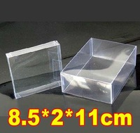 8.5*2*11cm PVC Plastic Transparent  Jewelry  Stationery Packaging Boxes Fruit Packing Case