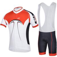Outdoor Men Road Bike Bicycle Set Cycling suit riding set jersey shirt+bib shorts quick-dry sportswear