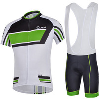 2014 Cool Men Bike Cycle Cycling Suit Short sleeves Jersey jacket+Bib Trousers  Bicycle  Riding Sportswear S-XXXL