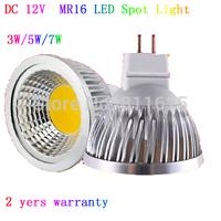 10pcs/lot  LED Bulb 3W 5W  7W COB MR16 LED Spot Light  Free Shipping