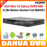 DAHUA DVR5108H hdmi 1080p output 8ch full 960H/D1 Mini 1U Standalone cctv dvr 8 channel realtime digital video recorder