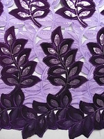 FREE SHIPPING!!!African guipure lace,dissolving lace fabric 15yards No.2339 Color.LILA_PURPLE