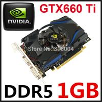 New arrival recommend Nvidia GeForce GTX660Ti video card computer graphics card 1G DDR5 128 bit PCI-E X16 DVI+HDMI+VGA