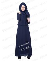 WEISHION Fahion chiffon muslim women dress islamic dress women abaya include shawl IN STOCK