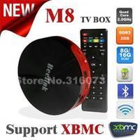 2014 Newest Amlogic M8 Quad Core up to 2.0GHz 2GB/8GB Android 4.4.2 Dolby digital 4K XBMC HDMI Bluetooth Mini PC+Remote Control