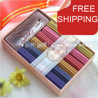 Lovely flower incense stick sets w/a ceramic incense holder.6 scents+114pc+15 min.Perfect for home spa.Easy use.Free shipping.