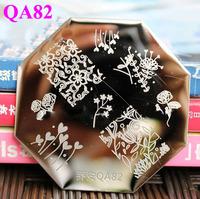 Free Shipping  QA82  10pcs/lot  Stamping Nail Art  Stamping Plate
