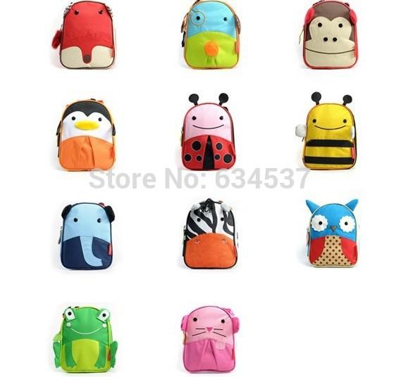 2014 nova Zoo Senior térmica turismo almoço sacos para crianças crianças Cute Baby Outdoor Travel Box Thermo Lunchbox Picnic Cooler Bag(China (Mainland))