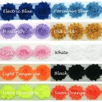 5 cm 5CM 3D Ruffled Fabric Rosette Flower Sewing Trim Band Wedding Bridal Dress White 14 Flower/Yard ML0455