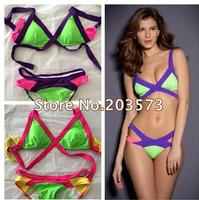 New Arrival Sexy Women Bandage Bra Padded Bikini Strap Halter Swimwear Brand Swimsuit Free Shipping DT167
