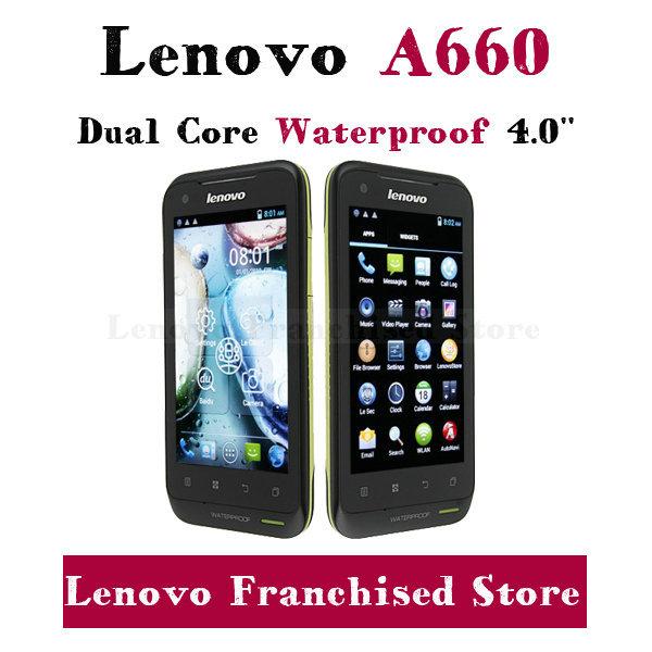 Original Lenovo A660 MTK6577 1.2GHz Dual Core Dustproof Waterproof Android Smart Phone 512MB RAM 4GB ROM Multi Language Russian(China (Mainland))