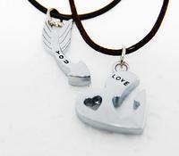 Love new 2014 Plating sterling silver jewelry men women pendants sets heart shape stainless steel Couple floating locket Pendant