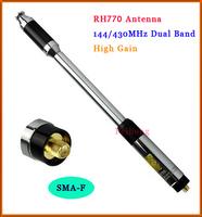 New RH770 Dual Band 144/430MHz High Gain SMA-F Telescopic Handheld Radio Antenna for Harvest Kenwood BAOFENG