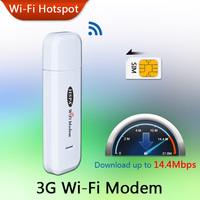 14.4M Unlock Broadband Mini Smart Mobile USB Hotspot GSM Dongle Router Data Card with Wi-Fi 3G WiFi Modem Support SIM Slot