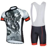 S-XXXL short sleeves cycling jersey jacket+bib shorts bike bicycle sportswear for men S-3XL