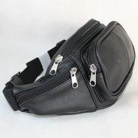 C&A Clockhouse fashion outdoor sport multifunctional small waist chest pack travel bag PU black  waterproof zipper women men
