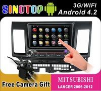 Android 4.2 Car PC car Radio DVD/CD/MP3 for Mitsubishi LANCER(2006/2007/2008/2009/2010/2011/2012))+BT+GPS navigation