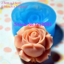 Flor / Rose de silicone flexível Empurre Mold miniatura Food Doces Jóia Charms (Clay Fimo resina epóxi Gum Paste Fondant ) HYL041(China (Mainland))
